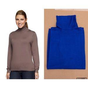 Linea Whisper Knit Long Sleeve Turtleneck (3X)